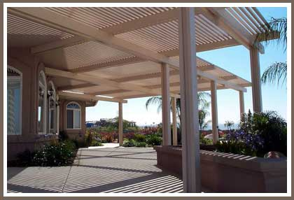 Charming Alumawood Patio Cover   Click Image For Large View